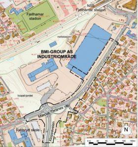 Kartet viser planområdet.