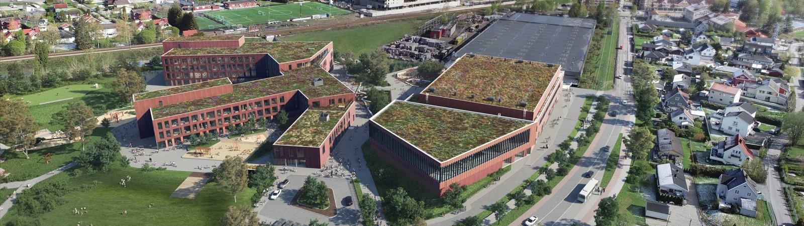 Fjellhamar aerial photo - Godt Naboskap
